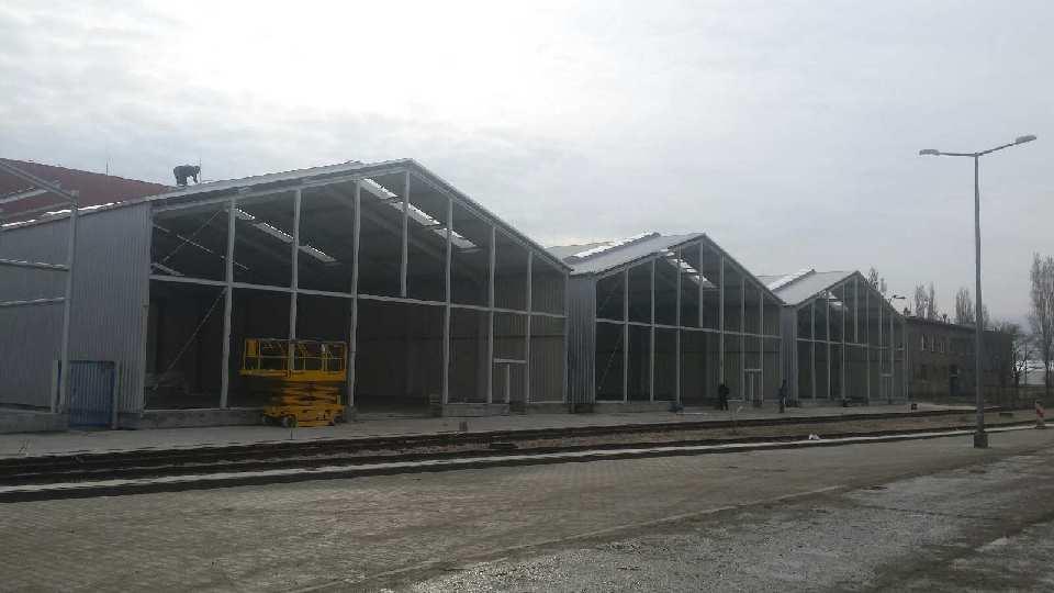W gdańsku zakończyliśmy montaż konstrukcji 5 hal.